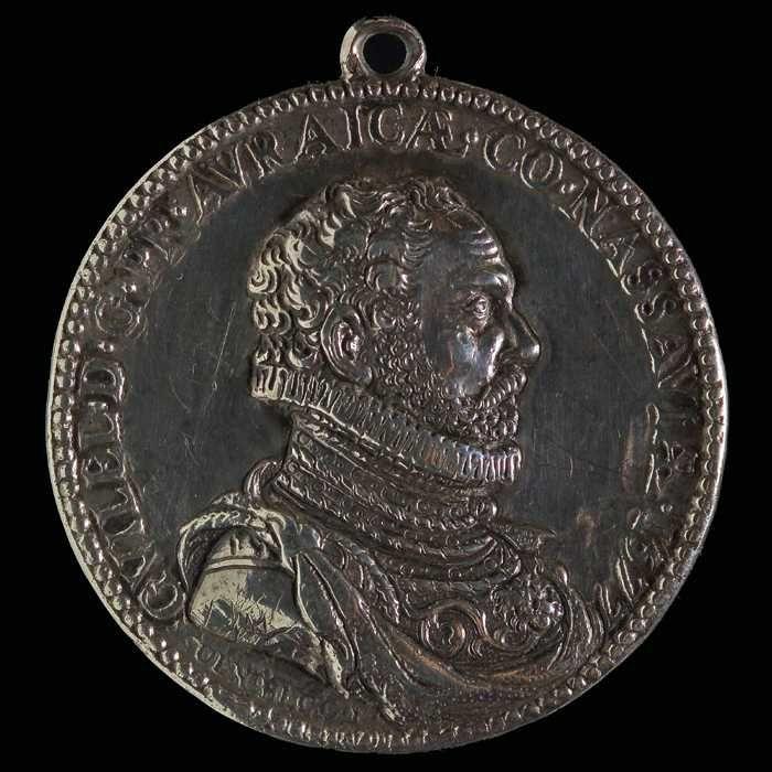 Penning op huwelijk Willem van Oranje en Charlotte de Bourbon