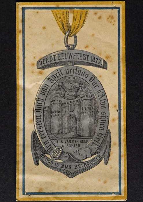 Envelop voor draagteken op het derde eeuwfeest van de inneming van Den Briel door de Watergeuzen