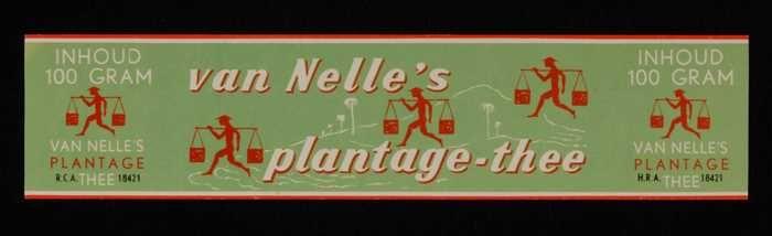 Groen label VAN NELLE'S PLANTAGE THEE, 100 gram, Belgisch