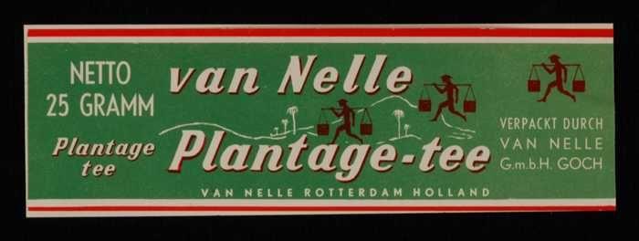 Groen label VAN NELLE'S PLANTAGE THEE, 25 gram