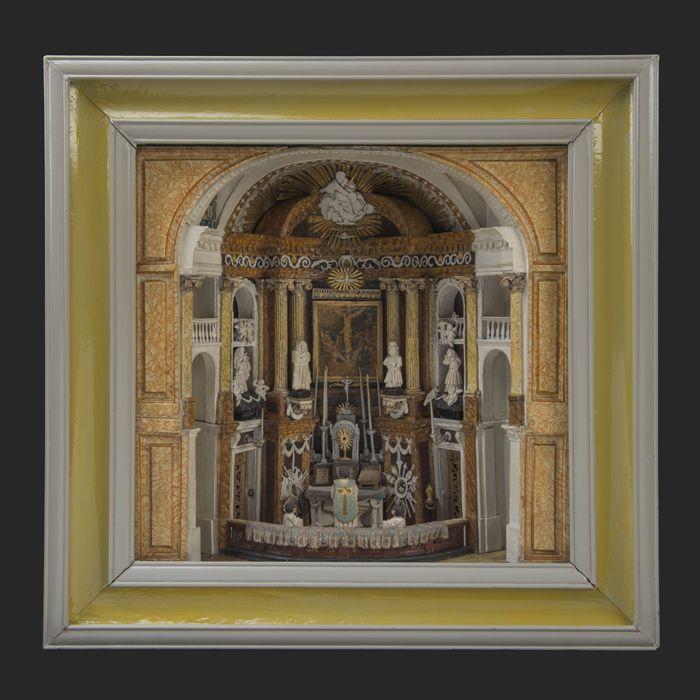 Diorama van het koor van de H. Rosaliakerk